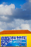 colour stock photography | Cura�ao, Willemstad, Otrobanda, colorful building, image id 3-431-13