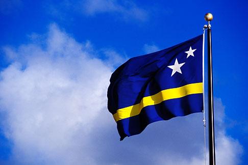 image 3-431-14 Curacao, Willemstad, Netherlands Antilles flag
