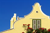 yellow stock photography | Cura�ao, Willemstad, Dutch architecture, image id 3-431-34
