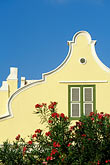 yellow stock photography | Cura�ao, Willemstad, Dutch architecture, image id 3-431-36