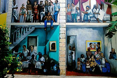 image 3-431-83 Curacao, Willemstad, Kura Hulanda, mural