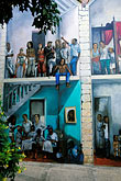 people stock photography | Cura�ao, Willemstad, Kur� Hulanda, mural, image id 3-431-84