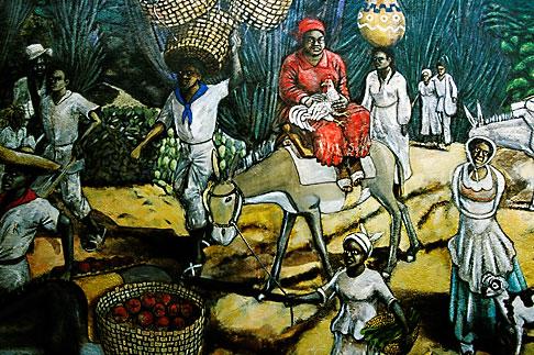 image 3-431-86 Curacao, Willemstad, Kura Hulanda, mural