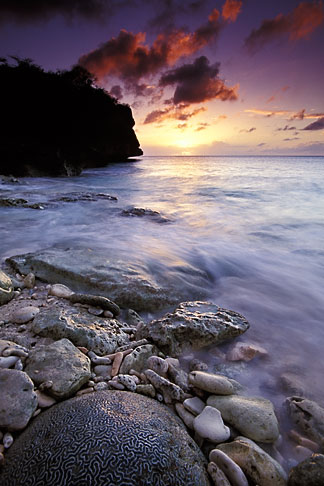 image 3-432-21 Curacao, Little Knip Beach, sunset