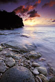 caribbean beach sunset stock photography | Cura�ao, Little Knip Beach, sunset, image id 3-432-21