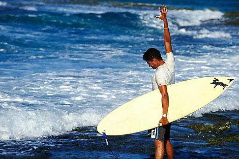 image 3-432-69 Curacao, Playa Canoa, surfer
