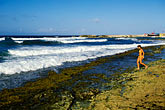 travel caribbean beach landscape stock photography | Cura�ao, Playa Canoa, surfer, image id 3-432-75