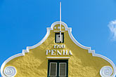 sunlight stock photography | Cura�ao, Willemstad, Punda, Historic District, Colonial Building, 1708, image id 3-433-17