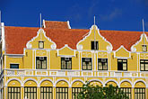 gabled roofs stock photography | Cura�ao, Willemstad, Punda, Historic District, Colonial Building, 1708, image id 3-433-18