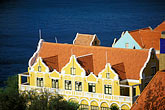 gabled roofs stock photography | Cura�ao, Willemstad, Punda, Historic District, Colonial Building, 1708, image id 3-433-19