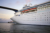 passenger liner stock photography | Cura�ao, Willemstad, Cruise ship at dock, image id 3-434-2