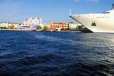 lesser antilles stock photography | Cura�ao, Willemstad, Cruise ship at dock, image id 3-434-3