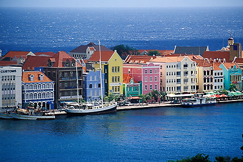 image 3-435-4 Curacao, Willemstad, Aerial view of Punda