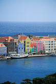 sunlight stock photography | Cura�ao, Willemstad, Aerial view of Punda, image id 3-435-9