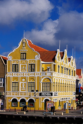 image 3-436-10 Curacao, Willemstad, Punda, Historic District, Colonial Building, 1708