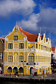 gabled roof stock photography | Cura�ao, Willemstad, Punda, Historic District, Colonial Building, 1708, image id 3-436-10