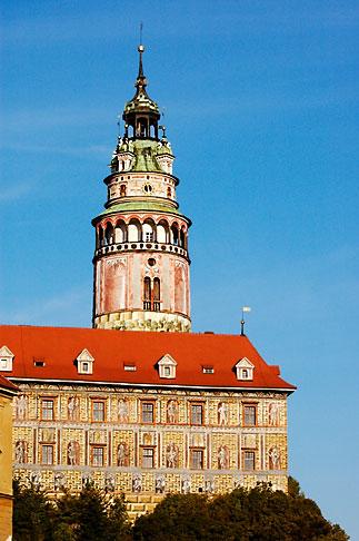 image 4-960-1005 Czech Republic, Cesky Krumlov, Castle Round Tower