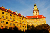 sunset stock photography | Czech Republic, Cesky Krumlov, Cesky Krumlov castle, image id 4-960-1034