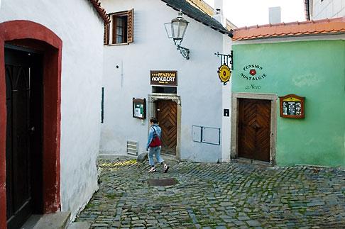 image 4-960-1099 Czech Republic, Cesky Krumlov, Street Scene