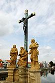 crucifix stock photography | Czech Republic, Pisek, Historic bridge, image id 4-960-1127