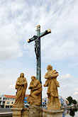 crucifix stock photography | Czech Republic, Pisek, Historic bridge , image id 4-960-1130