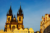 old town square stock photography | Czech Republic, Prague, Tyn Cathedral, image id 4-960-132