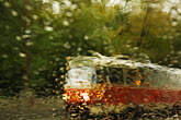out of focus stock photography | Czech Republic, Prague, Tramcar in the rain, image id 4-960-1470