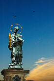 vlatava river stock photography | Czech Republic, Prague, Charles Bridge, Statue of St. John Nepomuk, image id 4-960-149