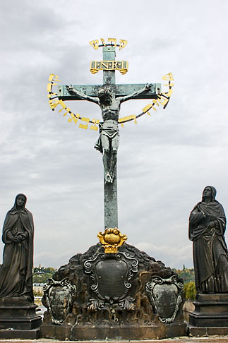 image 4-960-35 Czech Republic, Prague, Charles bridge, Crucifix