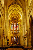 interior of church stock photography | Czech Republic, Prague, St. Vitus Cathedral, Hradcany Castle, image id 4-960-443