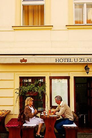 image 4-960-624 Czech Republic, Prague, Outdoor cafe