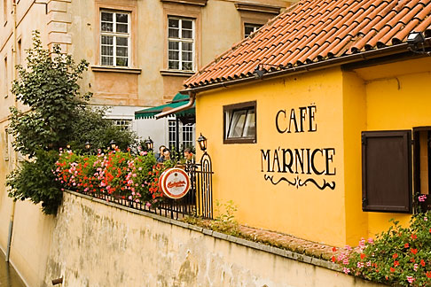 image 4-960-6300 Czech Republic, Prague, Outdoor cafe
