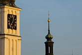 blue stock photography | Czech Republic, Prague, St. Nicholas Church tower, image id 4-960-6353