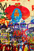 mural stock photography | Czech Republic, Prague, John Lennon Wall, image id 4-960-645