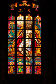 interior of church stock photography | Czech Republic, Prague, Stained Glass, St. Vitus Cathedral, image id 4-960-6538