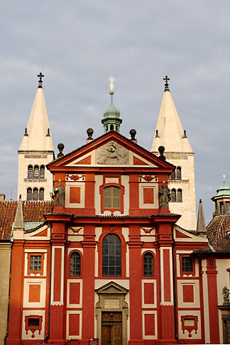 image 4-960-6555 Czech Republic, Prague, Hradcany Castle, Basilica of St George