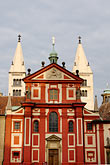 central europe stock photography | Czech Republic, Prague, Hradcany Castle, Basilica of St. George, image id 4-960-6555