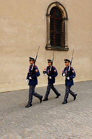 image 4-960-6560 Czech Republic, Prague, Hradcany Castle, Honor Guards