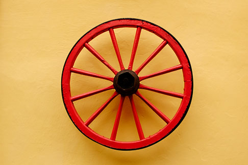 image 4-960-6577 Still life, Carriage wheel