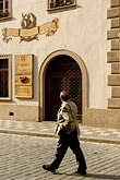 alone stock photography | Czech Republic, Prague, Street scene, image id 4-960-661