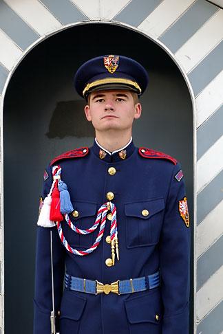 image 4-960-6620 Czech Republic, Prague, Hradcany Castle, Castle guard