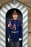 blue stock photography | Czech Republic, Prague, Hradcany Castle, Castle guard, image id 4-960-6628