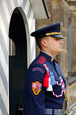blue stock photography | Czech Republic, Prague, Hradcany Castle, Castle guard, image id 4-960-6629
