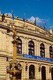 city hall stock photography | Czech Republic, Prague, Rudolfinum Concert Hall, image id 4-960-6655