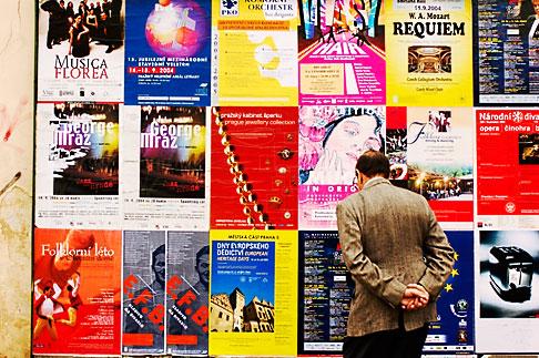 image 4-960-6735 Czech Republic, Prague, Wall of posters