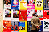 wall of posters stock photography | Czech Republic, Prague, Wall of posters, image id 4-960-6735