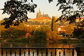 hillside stock photography | Czech Republic, Prague, Hradcany castle and River Vlatava, image id 4-960-6765