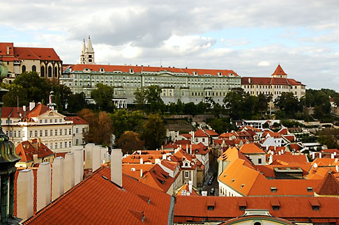 image 4-960-688 Czech Republic, Prague, View across rooftops to Hradcany Castle