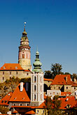 view stock photography | Czech Republic, Cesky Krumlov, Cesky Krumlov Castle and town, image id 4-960-6994