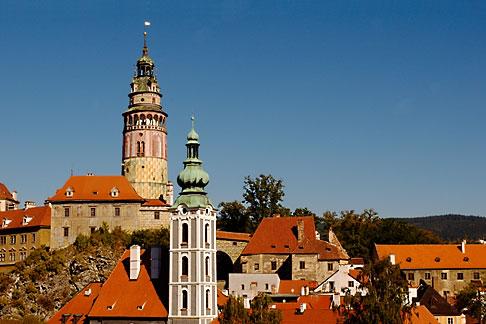 image 4-960-6998 Czech Republic, Cesky Krumlov, Cesky Krumlov Castle and town